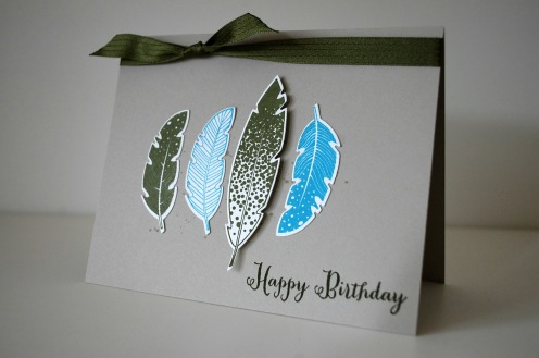 stampinup_Four Feathers_Waldmoos