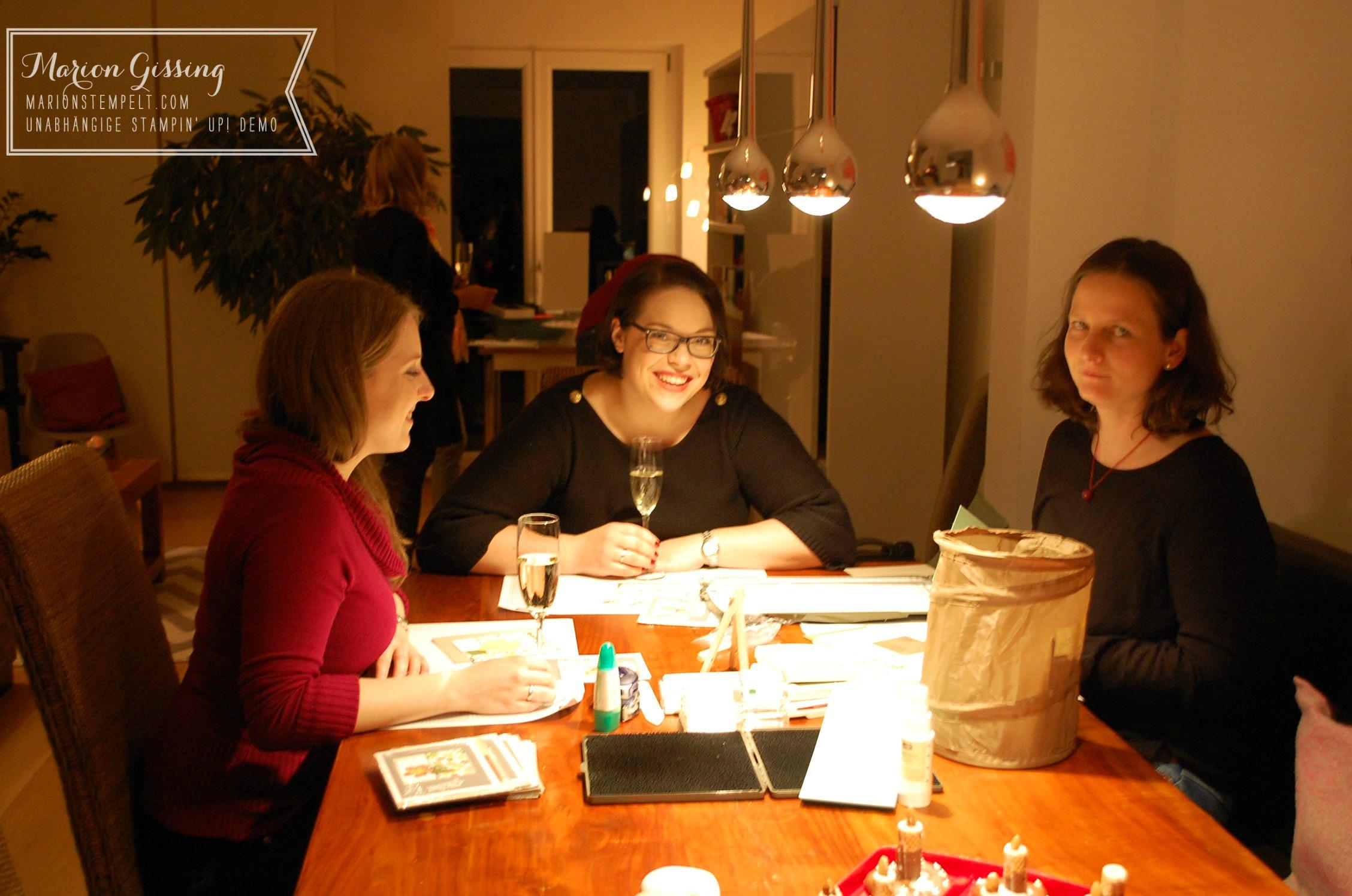 stampin up team weihnachtsfeier bei mir zuhause in. Black Bedroom Furniture Sets. Home Design Ideas