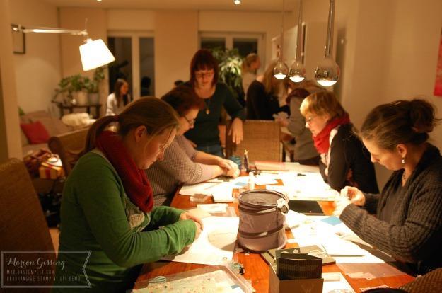 stampinup_muenchen_team-weihnachtsfeier_bastelrunde